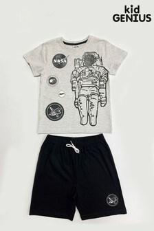Kids Genius Boys Nasa Pyjama Shorts Set