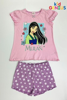 Kids Genius Girls Mulan Pyjama Shorts Set