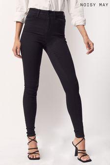 Noisy May Black Denim High Waist Skinny Jeans