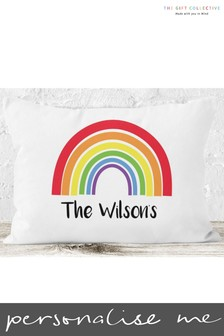 Personalised Rainbow Cushion by Gift Collective