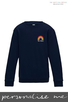 Personalised Rainbow Adults Sweatshirt by Gift Collective