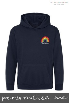 Personalised Rainbow Adult Hoodie by Gift Collective