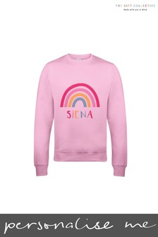 Personalised Pastel Rainbow Kids Sweatshirt  by Gift Collective