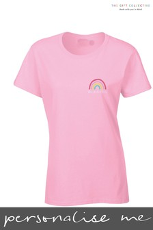 Personalised Names Rainbow Adult T-Shirt by Gift Collective