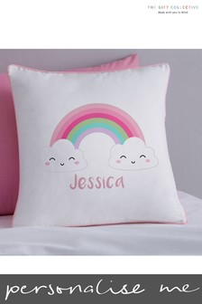 Personalised Smiley Rainbow Cushion by Gift Collective