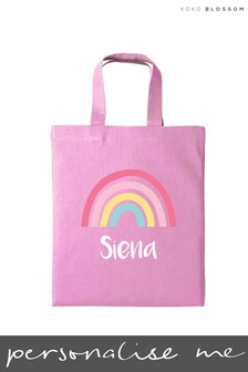 Personalised Rainbow Mini Tote Bag by Koko Blossom