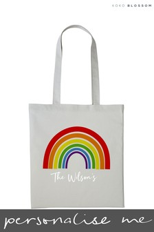 Personalised Rainbow Tote Bag by Koko Blossom