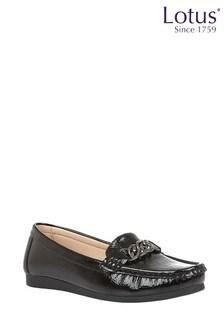 Lotus Footwear Black Loafers