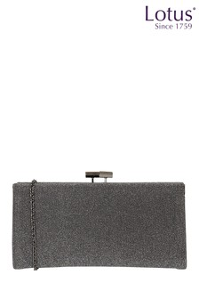 Lotus Footwear Pewter Clutch Bag with Chain