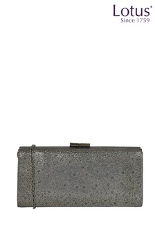 Lotus Footwear Grey Clutch Bag with Chain