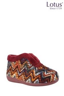 Lotus Footwear Burgundy Bordo Bootie Slippers