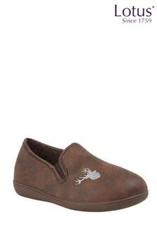 Lotus Footwear Camel Full Shoe Slippers