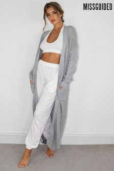 Missguided Longline Patch Pocket Cardigan