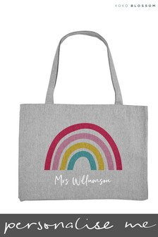 Personalised Rainbow Large Tote Bag by Koko Blossom