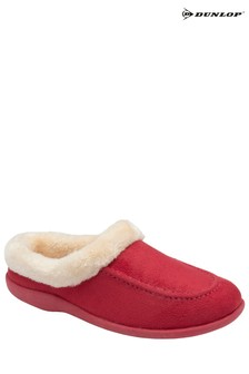 Dunlop Red Ladies Pauline Moccasin Slippers