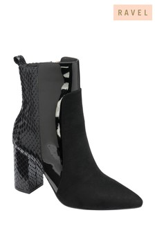Ravel Black Mid Calf Ankle Boots