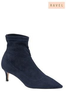 Ravel Navy Sock Boots