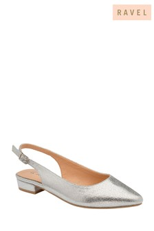 Ravel Silver Slingback Shoes