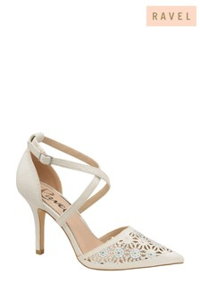 Ravel White Heeled Shoes