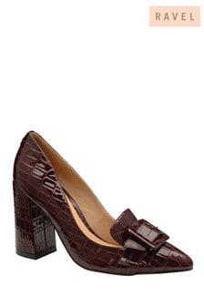 Ravel Animal Printed Block Heel Court Shoes