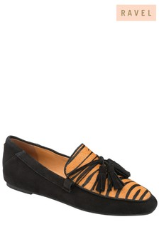 Ravel Charcoal Patent Leather Loafers