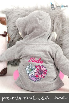 Personalised Organic Cotton Baby Hooded Top By Percy & Nell