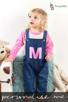 Personalised Organic Denim Dungarees By Percy & Nell