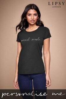 Personalised Black Normal People Women's T-Shirt by Instajunction