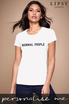 Personalised White Normal People Women's T-Shirt by Instajunction