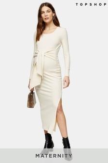 Topshop Maternity Square Neck Tie Dress