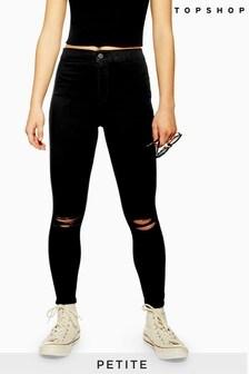 """Topshop Petite Ripped Joni Skinny Jeans 28"""" Leg"""