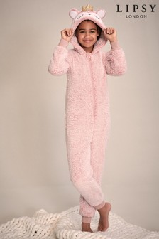 Lipsy Girl Pink Novelty Onesie