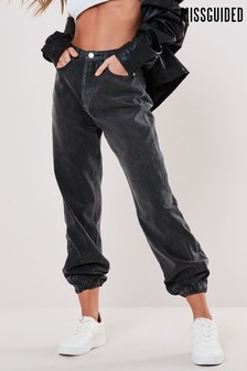 Missguided Riot Highwasited Mom Jogger Jean