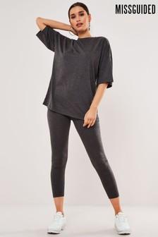 Missguided Full Length Legging And T-Shirt Set