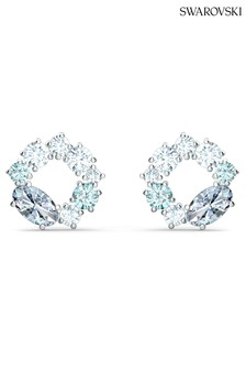 Swarovski Silver Attract Circle Stud Earrings
