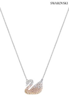 Swarovski Crystal Pearl Iconic Swan Necklace