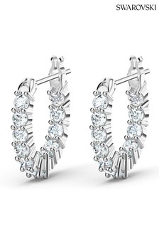 Swarovski Silver Vittore Mini Hoop Earrings