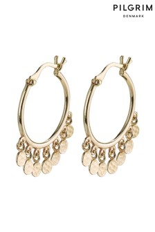 Pilgrim Gold  Panna Plated Hoops Earings