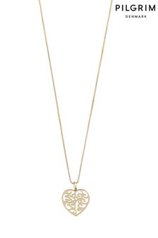 PILGRIM Gold Felice Plated Heart Necklace