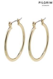 Pilgrim Gold  Layla Creole Hoop Plated Earrings