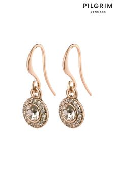 PILGRIM Rose Gold Clementine Plated Halo Earrings