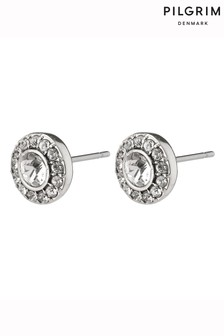 PILGRIM Silver Clementine Plated Stud Earrings