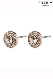 Pilgrim Rose Gold  Clementine Plated Stud Earrings