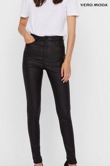 Vero Moda Coated Faux Leather Skinny Jeans
