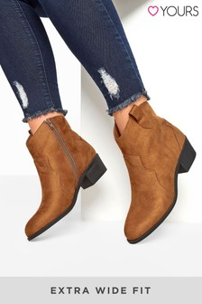 Yours Angel Western Ankle Boot