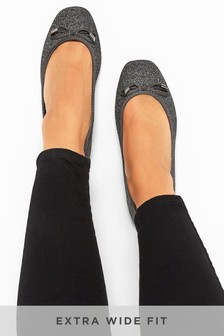 Yours Boogie Sparkle Ballerina Shoes