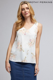 Dorothy Perkins White Floral Built Up Top