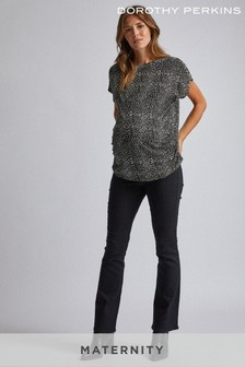 Dorothy Perkins Black Matrnity Overbump Bootcut Jeans
