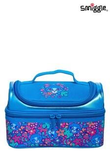 Smiggle Blue Budz Double Decker Lunchbox