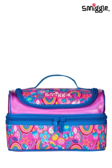 Smiggle Pink Flow Double Decker Lunchbox